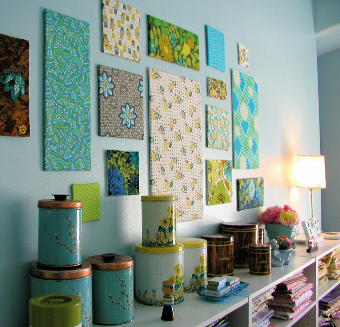 Room decorating ideas for Fabric wall art