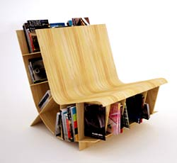 Creative bookshelf-chair combination