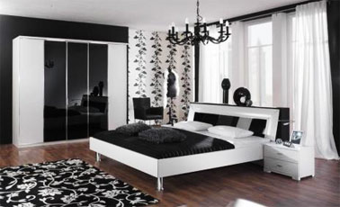 black and white decorating ideas room decorating ideas. Black Bedroom Furniture Sets. Home Design Ideas