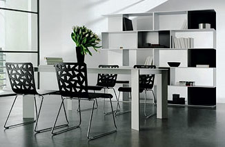 Black And White Dining Room Idea