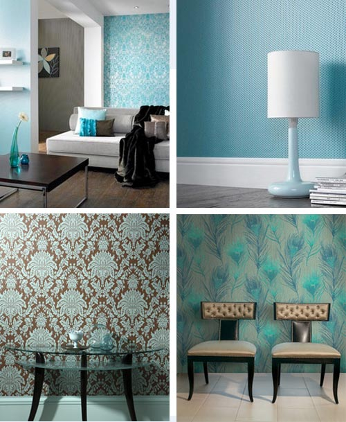 turquoise-wall-coverings