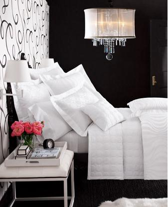 Black and white bedroom decorating ideas room decorating Bedrooms decorated in black and white