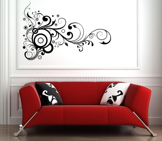 Flores Decorativas Para Pared Gris