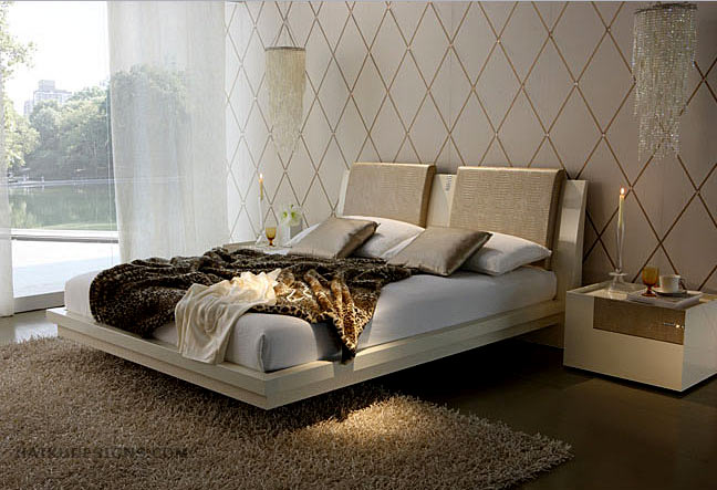 Beautiful modern classic zen romantic bedroom from Haiku Designs