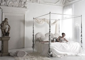 White Italian Style Romantic Bedroom