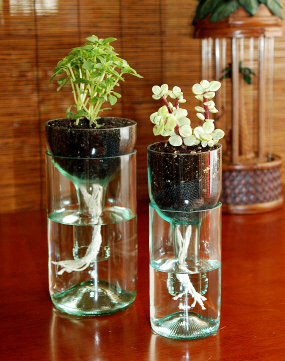 Beautiful Creative Home Decor With A DIY Glass Planter