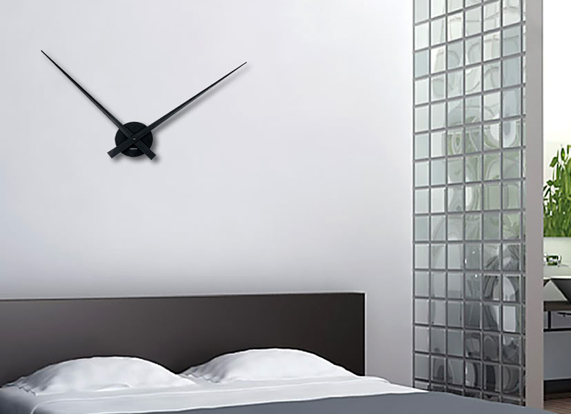 The Classic Frameless Clock. Ultra Minimalist. The Karlsson Little Big Time Wall  Clock.