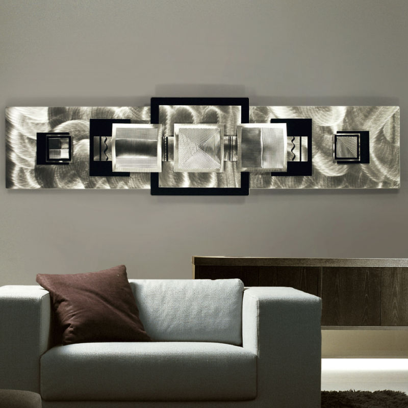 Delightful Metal Wall Art Squares