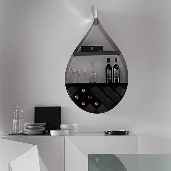 Pear Shaped Creative Metal Shelving Idea for Wine Lovers